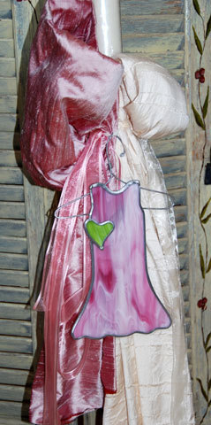 Λαμπάδα από σαντούκ μετάξι σε χρώματα ιβουάρ και σάπιο μήλο