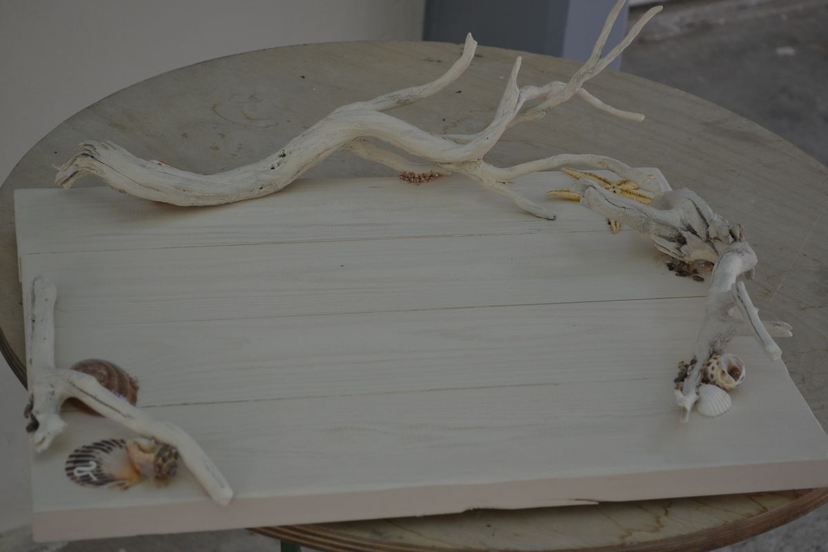 Marine Themed Wedding Set with Driftwood and Gauze
