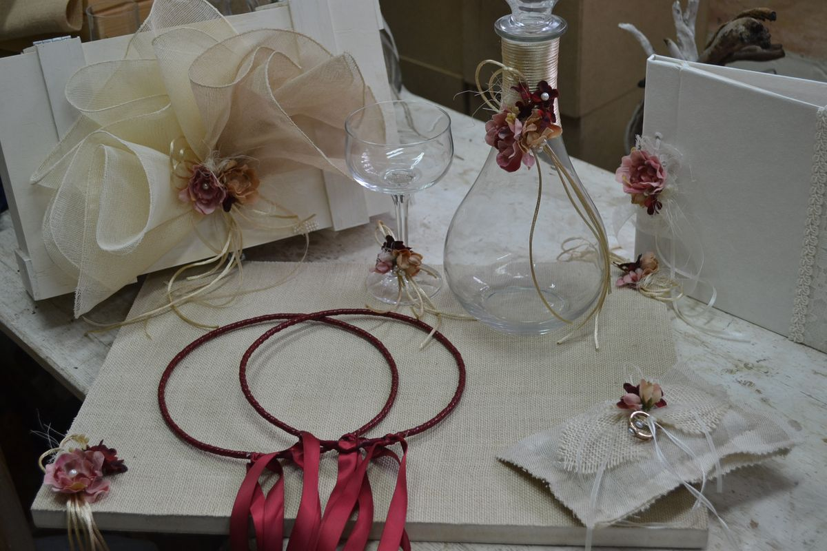 Marsala Colored Wedding Set